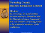 Wyoming County                                   Business Education Council