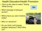 Health Education/Health Promotion