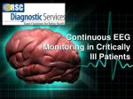 Continuous EEG Monitoring in Critically Ill Patients