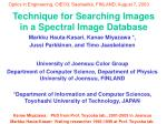 Technique for Searching Images in a Spectral Image Database