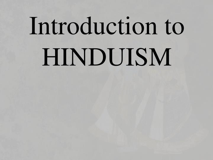 introduction to hinduism n.