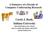 A Summary of a Decade of Computer Conferencing Research