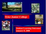 Student Learning Outcomes January 8, 2008