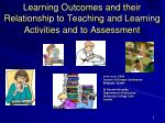 Learning Outcomes and their Relationship to Teaching and Learning Activities and to Assessment