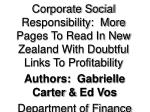 Authors:  Gabrielle Carter  &  Ed Vos Department of Finance Waikato Management School