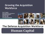 The Defense Acquisition Workforce
