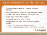 Future Consideration for WITSML from Total