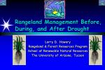 Rangeland Management Before, During, and After Drought