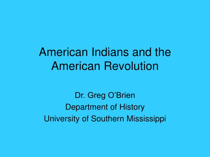 american indians and the american revolution n.