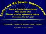 Board of County Commissioners Allen County, Ohio Detailed Planning Assessment Hearing