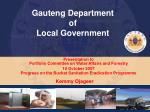 Gauteng Department  of  Local Government