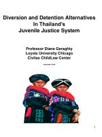 Diversion and Detention Alternatives In Thailand's Juvenile Justice System