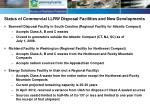 Status of Commercial LLRW Disposal Facilities and New Developments