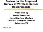 Review on the Proposed Survey of Wireless Sensor Requirements