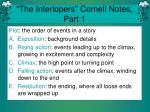 """""""The Interlopers"""" Cornell Notes, Part 1"""