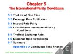 Chapter 5 The International Parity Conditions