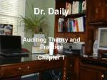 Dr. Daily Auditing Theory and Practice Chapter 1