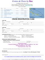 CRUISE REGISTRATION FORM GUEST ONE