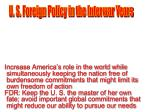U. S. Foreign Policy in the Interwar Years