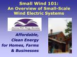 Small Wind 101: An Overview of Small-Scale Wind Electric Systems