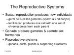 The Reproductive Systems