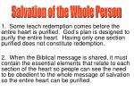Salvation of the Whole Person