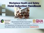 Workplace Health and Safety Hotel Induction Handbook