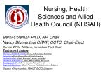 Nursing, Health Sciences and Allied Health Council (NHSAH)