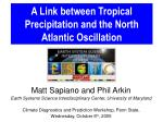 A Link between Tropical Precipitation and the North Atlantic Oscillation