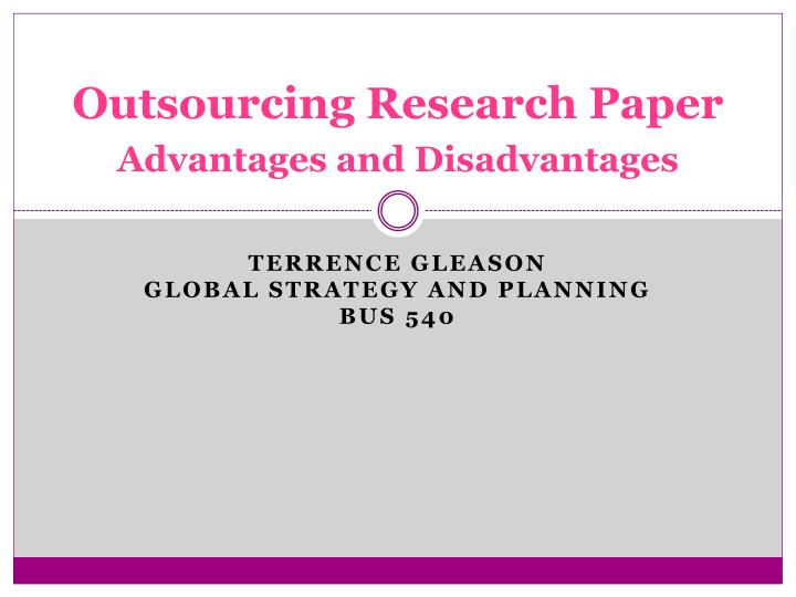 outsourcing journal pdf