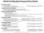 ADS-B Out Mandate/Proposed Rule Details