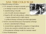 XXI. THE COLD WAR