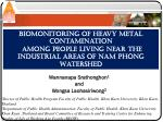 Biomonitoring of Heavy Metal Contamination