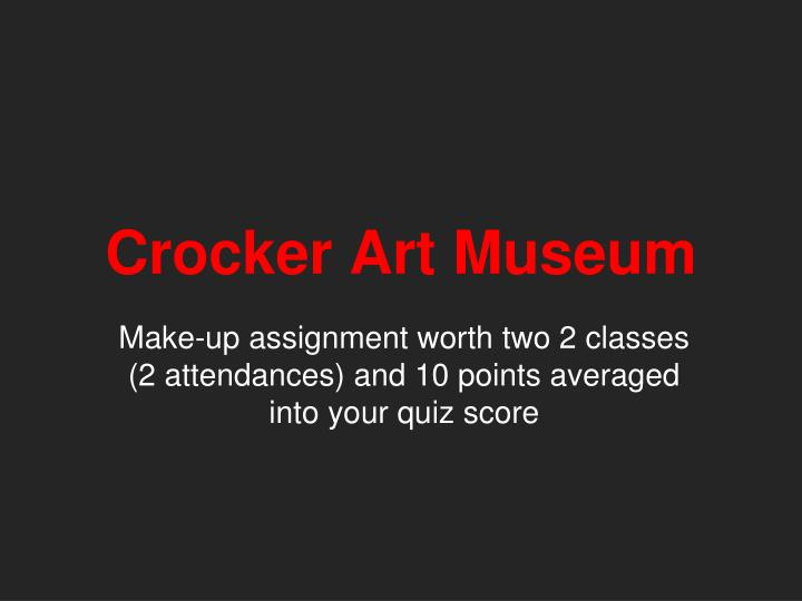 crocker art museum n.