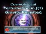 Cosmological Perturbation in  f(T)  Gravity Revisited
