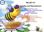 Big Idea 16 Heredity and Reproduction