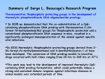 Summary of Serge L.  Beaucage's  Research Program
