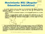 Movimiento REI (Regular Education Iniciative )