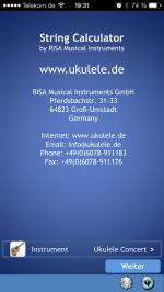 String Calculator by RISA Musical Instruments www.ukulele.de