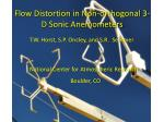 Flow D istortion in N on-orthogonal 3-D Sonic Anemometers