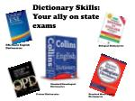 Dictionary Skills: Your ally on state exams