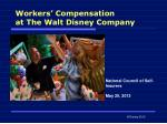 Workers' Compensation at The Walt Disney Company