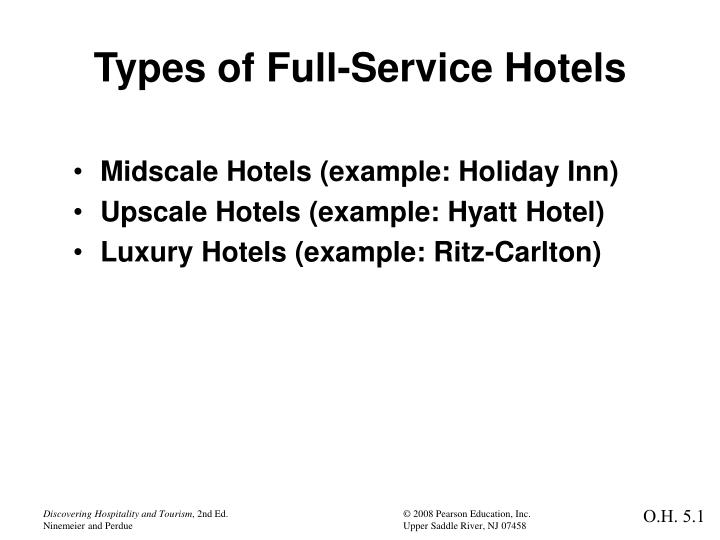 types of full service hotels n.