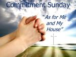 Commitment Sunday