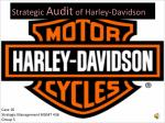 Strategic  Audit  of Harley-Davidson