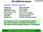 2014 CIGRE Paris Session