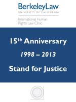 15 th  Anniversary 1998 – 2013 Stand for Justice