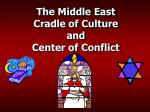 The Middle East Cradle of Culture and Center of Conflict