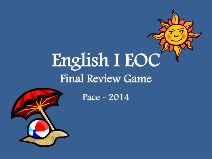 english i eoc final review game n.