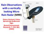 Rain Observations with a vertically looking Micro Rain Radar (MRR)